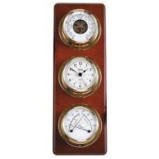 Weather Station Plaque Clock Barometer set Weather Instrument Weems Plath NEW