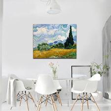 Van Gogh Painting Reproduction Wheat Field Canvas Print Home Decor Art Framed