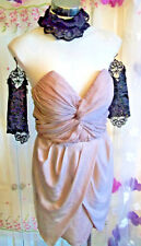 Gorgeous H&M dusky pink sweetheart strapless dress corset size 12