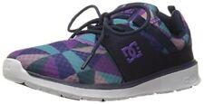 DC Heathrow SE Womens Purple Textile SNEAKERS Lace up Skate Shoes 6