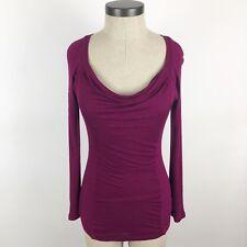 Derek Heart Top Juniors Medium Purple Ribbed Lightweight Long Sleeve Pullover