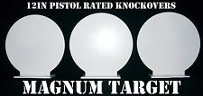Steel Shooting Targets - New 12 Inch Round Knockovers -Action Pistol Plates 3pcs
