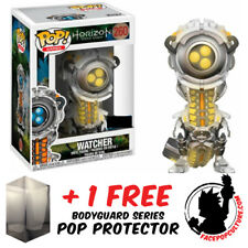 FUNKO POP HORIZON ZERO DAWN WATCHER YELLOW GLOW EXCLUSIVE + FREE POP PROTECTOR