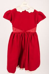 Joan Calabrese Girls Dress Red sz 5 Velvet Christmas Holiday Special Occasion