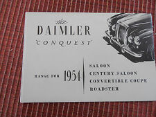 CATALOGUE DAIMLER CONQUEST 1954  (ref 45)