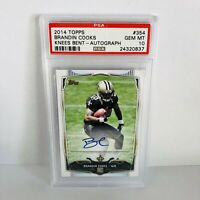 Brandin Cooks 2014 Topps PSA 10 Autographed Rookie Card #354