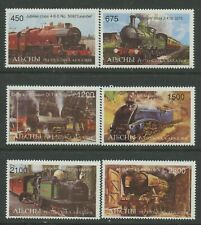 Trains mnh set of 6 stamps Abkhazia Steam locomotives railroad