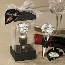 Elegant Reusable Vacuum Sealed Rhinestone Red Wine Bottle Stopper Cork Deluxe
