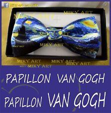 van gogh PAPILLON uomo tie notte stellata