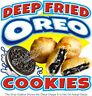Deep Fried Oreo Cookies Concession Trailer Food Truck Vinyl Sticker Menu Decal