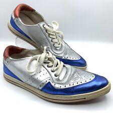 Swear London Metallic Silver James Dean Brogue Sneakers Shoes Vtg Y2K 90s 6 36 3