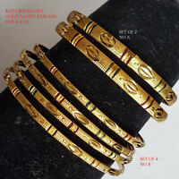 Bollywood Bridal Gold Plated Bracelet Set Indian Traditional Bangles Jewelry u4