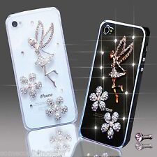 3D DELUX LUSSO BLING ANGEL BRILLANTI CUSTODIA PER IPHONE SAMSUNG SONY HTC