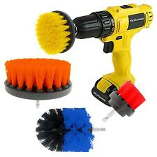 3pc Drill Brush Scrubber Cleaning Set Universal Fit most Drills