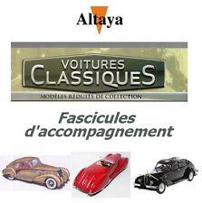 Altaya Voitures classiques - Fascicules d'accompagnement (au choix)