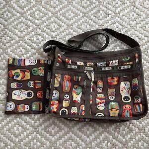 Lesportsac Matryoshka Nesting Dolls Deluxe Everyday bag Crossbody Incl Pouch