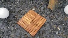 34 Akazien-Holzfliesen Terrassenfliesen Bodenfliesen Balkonfliese 30x30cm 3,06m²