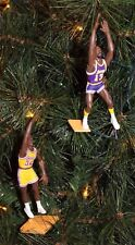 LOS ANGELES LAKERS Christmas Tree Ornament SET OF 2 O'NEAL & CHAMBERLAIN