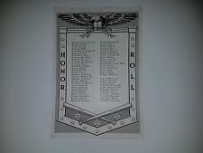 George Burpo Bruce Campbell George Byam  Mike Budnick 1943 SNews Mil. Honor Roll