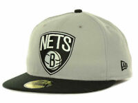Brooklyn Nets New Era 59FIFTY NBA Current Logo Men's Fitted Cap Hat - Size 7 1/2