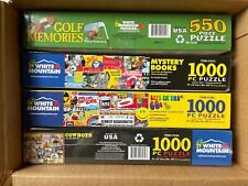 Four White Mountain Puzzles One New, Three Used all Complete