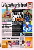 ***VENDO GAZZETTA DELLO SPORT DEL 30/05/2011 - INTER CAMPIONE COPPA ITALIA***
