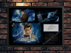 11TH DOCTOR WHO MATT SMITH SIGNED LIMITED EDITION A4 PHOTO PRINT AUTOGRAPHED