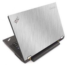 BRUSHED ALUMINUM Vinyl Lid Skin Cover fits IBM Lenovo ThinkPad T440P Laptop