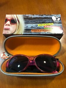 ZOOBUG Pink Sunglasses UV400 Lens BUZZ IT1 Made in Italy London