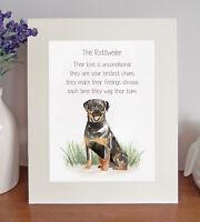 Rottweiler BESTEST CHUM Novelty Dog Poem 8 x 10 Picture/10x8 Print Fun Gift