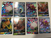 Hidden Fates GX  BUNDLE x 8 Pokemon Card  RARE Raichu Gyrados etc