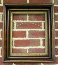 Antique Aged Victorian Deep Well Gilt Liner~Picture Frame 10 x 12 square nails