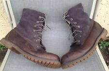 Timberland Fold-Down Fleece Lined Waterproof Upper Suede & Leather Boots Sz 11