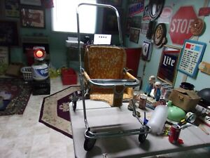 Vintage Taylor Tot Stroller Metal 1960s Chrome and Vinyl very nice condition