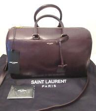 $2,650  AUTHENTIC Saint Laurent YSL 12 Hour Classic leather Duffle bag Burgundy