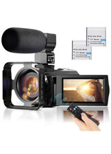 Video Camera Microphone HD 1080P 24MP Vlog YouTube Camcorder 16X Digital Zoom