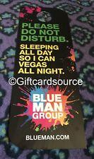 LUXOR HOTEL LAS VEGAS BLUE MAN GROUP PLEASE DO NOT DISTURB SIGN DND