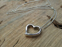 Sterling silver Diamond set Heart shaped Pendant with Chain