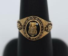 1959 Franklin High School Ring Classic Vintage Size 8 1/4 Murchison KD 10K Gold