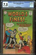 World's Finest #136 CGC 7.5 Off White to White Pages 9/63 Superman Batman