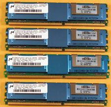 16GB 4x4GB PC2-5300F DDR2-667MHz Fully Buffered ecc registrato 240 PIN Apple HP