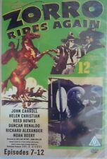 DVD Zorro Rides Again - Episodes 7 - 12 [NEW & SEALED]