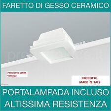 FARETTO QUADRATO IN GESSO Senza VETRINO PORTA FARETTO A SCOMPARSA GU10
