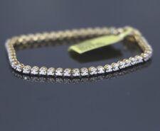 JLI 10K Yellow White Gold 1.00ct Round Diamond 6.5'' Tennis Bracelet