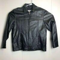 Wilsons Leather M Julian Mens Large Genuine Black Leather Zip Jacket Coat Fall