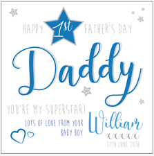 Personalised 1ST FIRST FATHERS DAY card