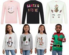 Neues AngebotKids Kinder Mädchen Weihnachten Neuheit Einhorn Elfe Pullover Xmas Strickpullover
