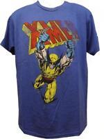 New X-MEN Marvel Wolverine Mens S-M-L-XL-2XL Licensed Distressed Blue Shirt