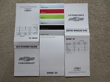 2016 CHEVROLET SPARK EV FACTORY COLOR CHIP SAMPLE CHART BROCHURE NEW AND COOL