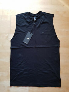 Lee muscle singlet Mens size S *BRAND NEW* with tags Black RRP $49.95